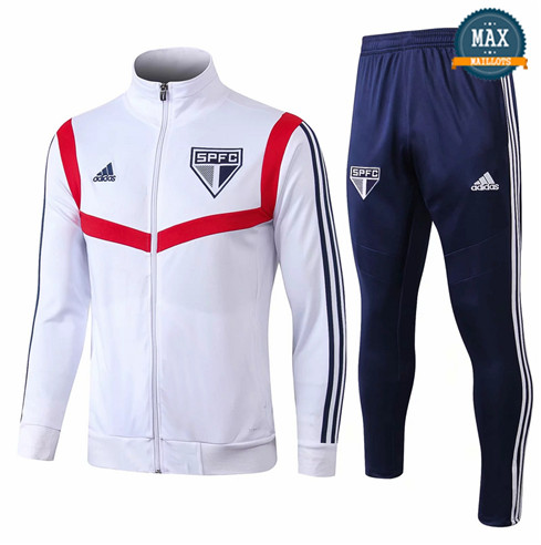Veste Survetement Sao Panlo 2019/20 Blanc