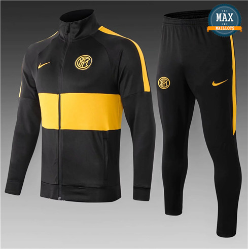 Veste Survetement Inter Milan Enfant 2019/20 Noir/Jaune
