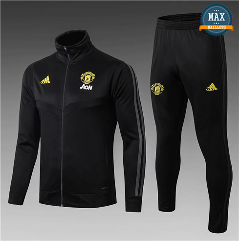 Veste Survetement Manchester United Enfant 2019/20 Noir
