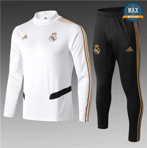 Survetement Real Madrid Enfant 2019/20 Blanc/Noir