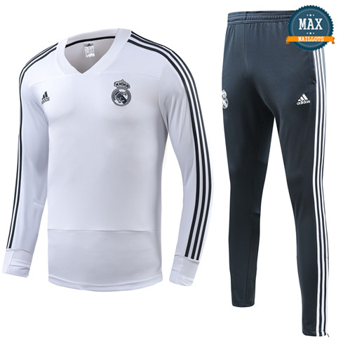 Survetement Enfant Real Madrid 2019/20 Blanc Col V