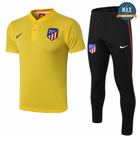 Maillot Polo Atletico Madrid 2018/19 Training Jaune