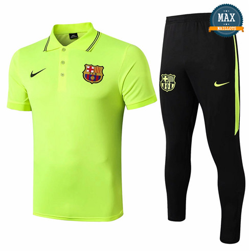 Maillot Polo + Pantalon Barcelone 2019/20 Training Vert