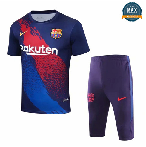 Maillot + Pantalon Barcelone 2019/20 Training Violet Col Rond
