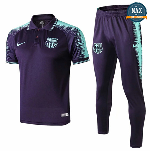 Maillot Polo Barcelone 2018/19 Training Bleu Marine Strike Drill
