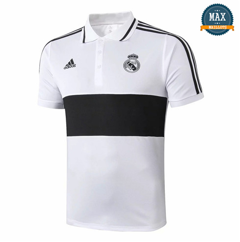 Maillot Polo Real Madrid 2019/20 Blanc/Noir