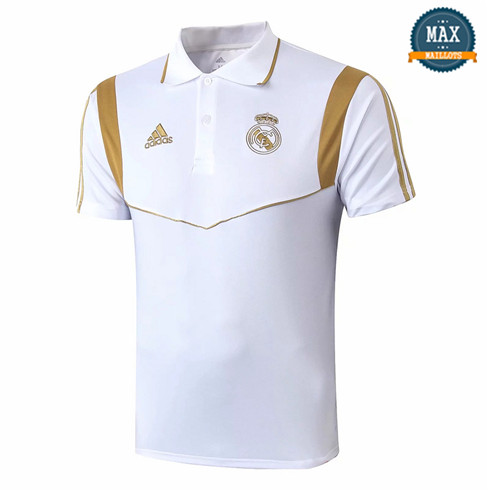Maillot Polo Real Madrid 2019/20 Training Blanc