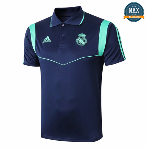 Maillot Polo Real Madrid 2019/20 Training Bleu Marine