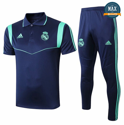 Maillot Polo + Pantalon Real Madrid 2019/20 Training Bleu Marine