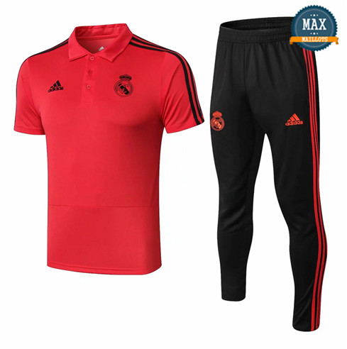 Maillot Polo Real Madrid 2018/19 Training Rouge