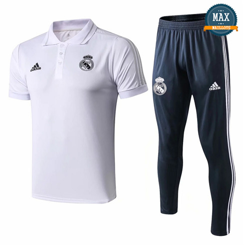 Maillot Polo Real Madrid 2018/19 Training Blanc