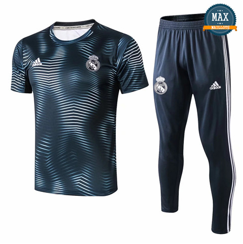 Maillot Real Madrid 2018/19 Training Vert barré