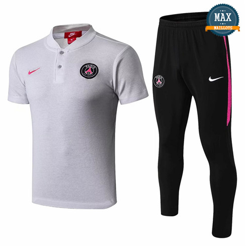 Maillot Polo PSG 2018/19 Training Gris