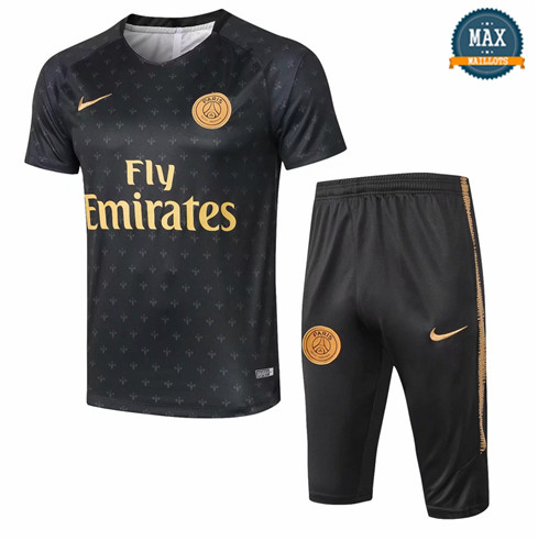 Maillot PSG 2018/19 Training Noir/Or