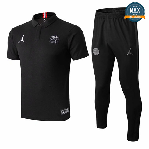 Maillot Polo PSG Jordan 2018/19 Training Noir/Rouge