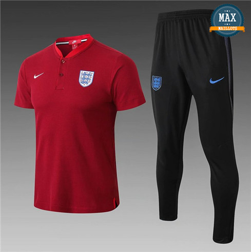 Maillot Polo + Pantalon Angleterre 2018/19 Training Rouge