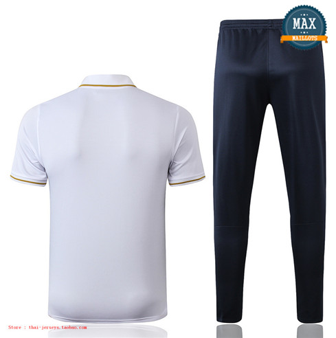 Maillot Polo + Pantalon France Training Blanc/Bleu Marine