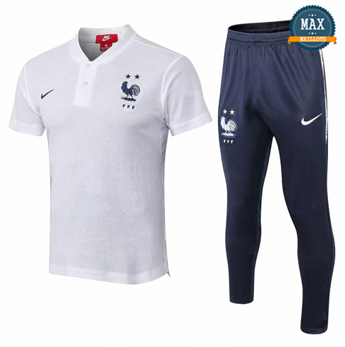 Maillot Polo France 2018/19 Training Blanc
