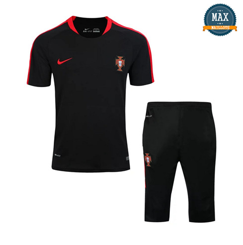 Maillot Polo + Pantalon portugal 2018/19 Training Noir Rouge