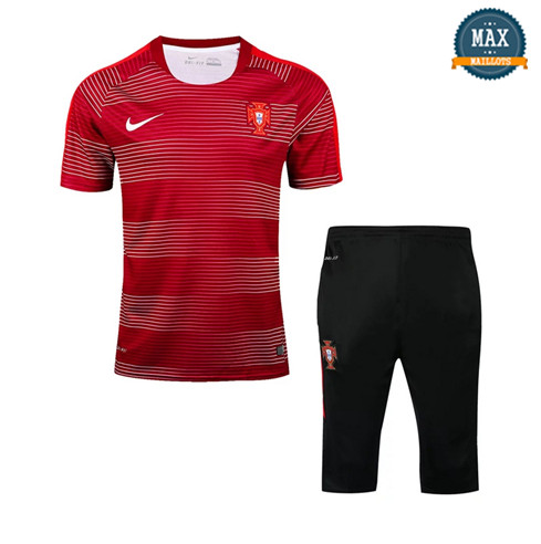 Maillot Polo + Pantalon portugal 2018/19 Training Rouge