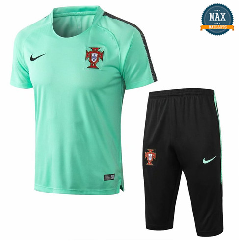 Maillot Polo + Pantalon portugal 2018/19 Training Vert
