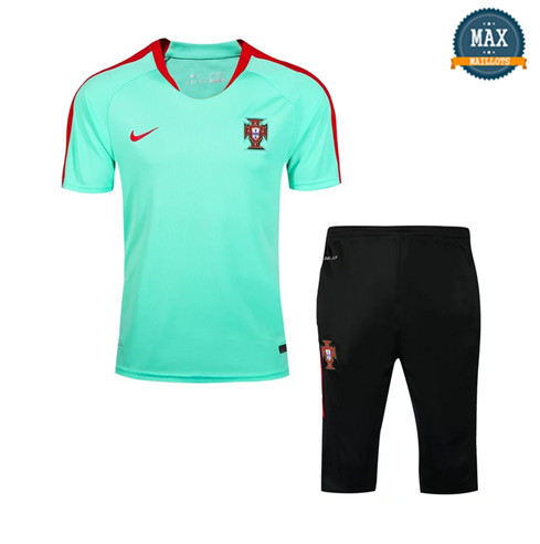 Maillot Polo + Pantalon portugal 2018/19 Training Vert Rouge