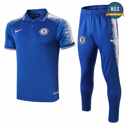 Maillot Polo Chelsea 2018/19 Training Bleu Strike Drill