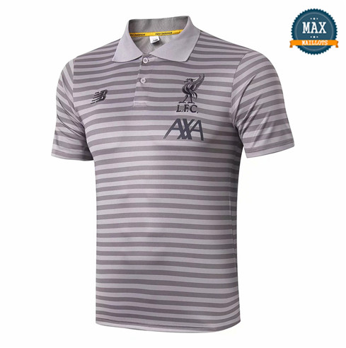 Maillot Polo Liverpool 2019/20 Training bande Gris