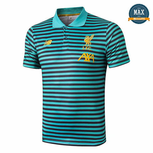 Maillot Polo Liverpool 2019/20 Training Vert bande Noir