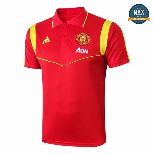 Maillot Polo Manchester United 2019/20 Training Rouge