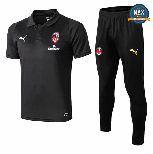Maillot Polo AC Milan 2018/19 Training Noir