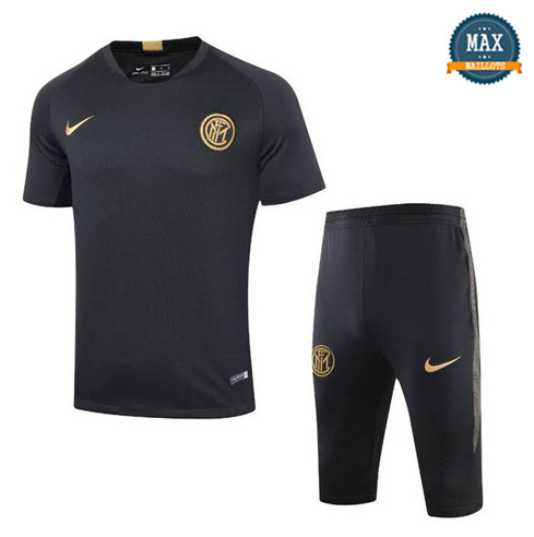 Maillot + Pantalon Inter Milan 2019/20 Training Noir Col V