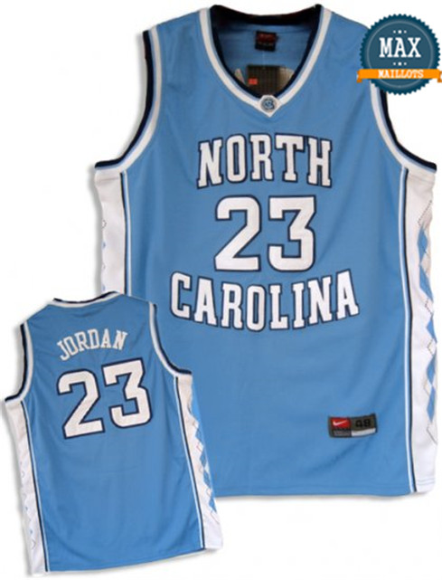 Michael Jordan, North Carolina [bleu]