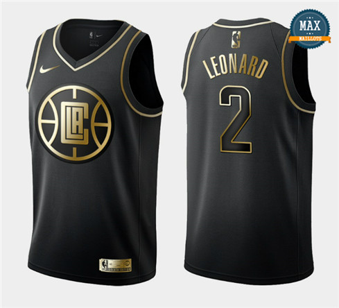 Kawhi Leonard, Los Angeles Clippers - Black/Gold