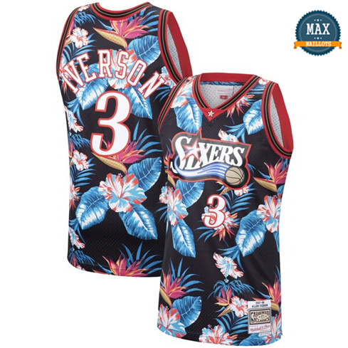 Allen Iverson, Philadelphia 76ers - Mitchell & Ness Floral Pack