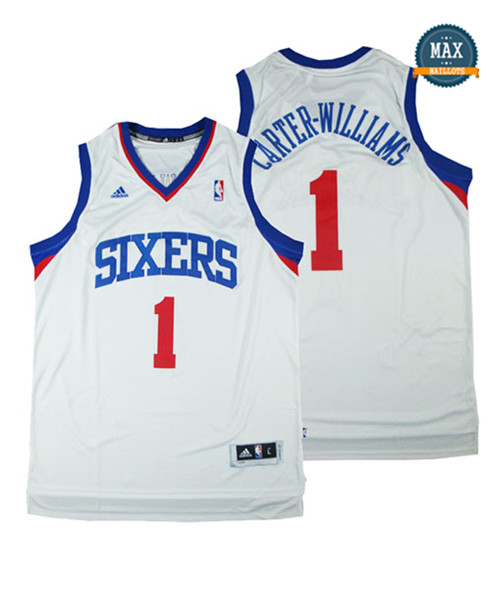 Michael Carter williams,Philadelphia 76ers-blanc