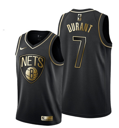 Kevin Durant, Brooklyn Nets - Black/Gold