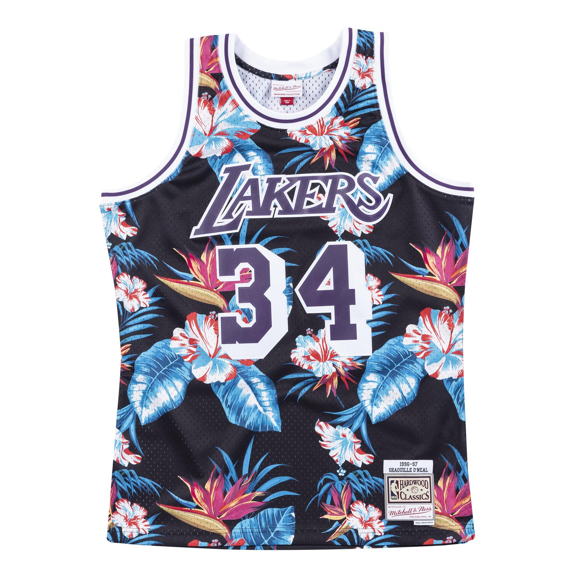 Shaquille O'Neal, Los Angeles Lakers - Mitchell & Ness Floral Pack