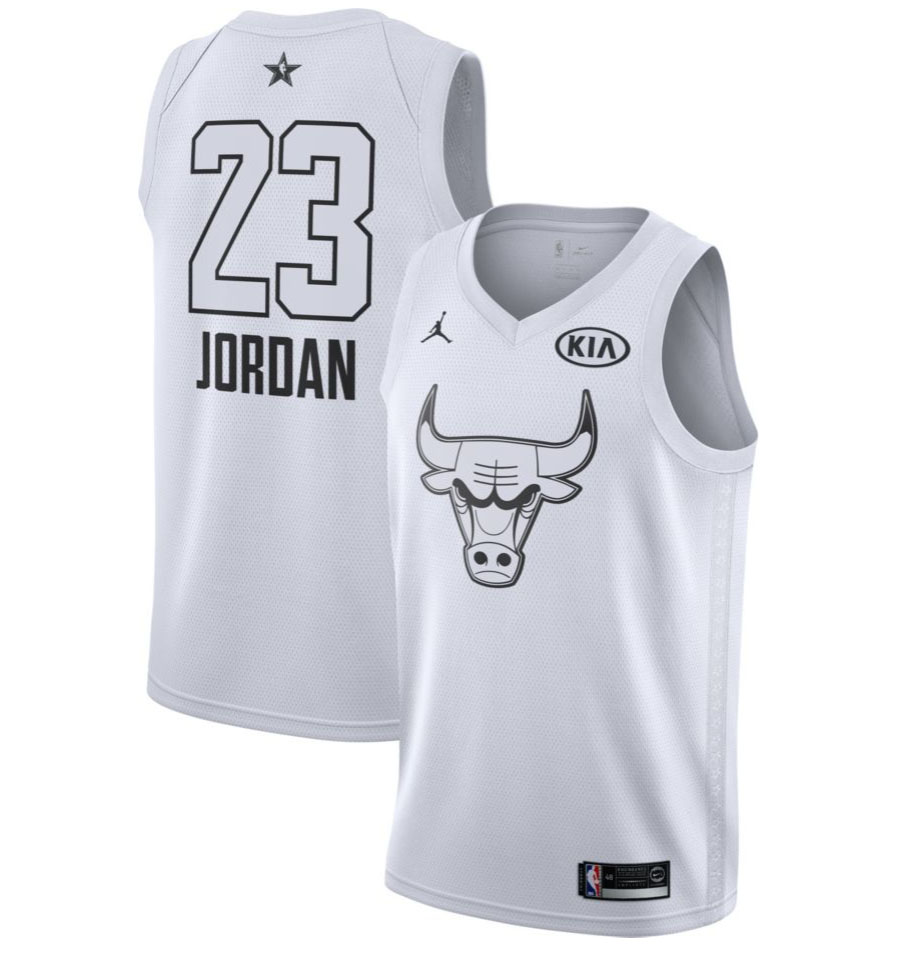 Michael Jordan - 2018 All-Star White