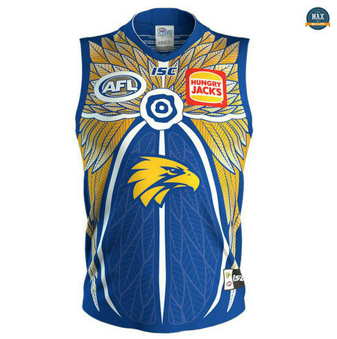 Max Maillot Rugby AFL West Coast Eagles édition souvenir 2019/20