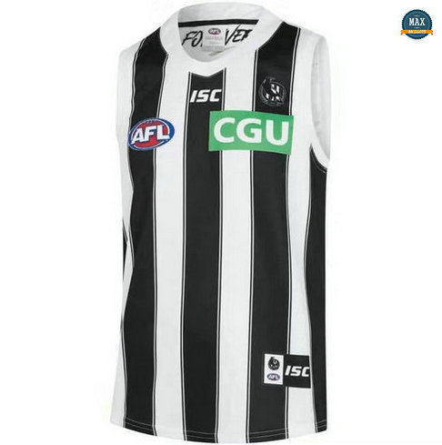 Max Maillot Rugby AFL Collingwood Magpies 2019/20 Blanc