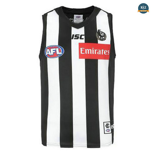 Max Maillot Rugby AFL Collingwood Magpies 2019/20 Noir