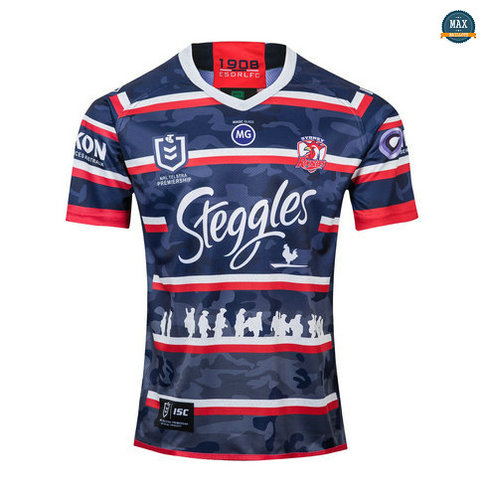 Max Maillot Rugby Sydney Roosters Édition commémorative 2019/20
