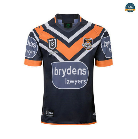 Max Maillot Rugby Wests Tigers Domicile 2019/20