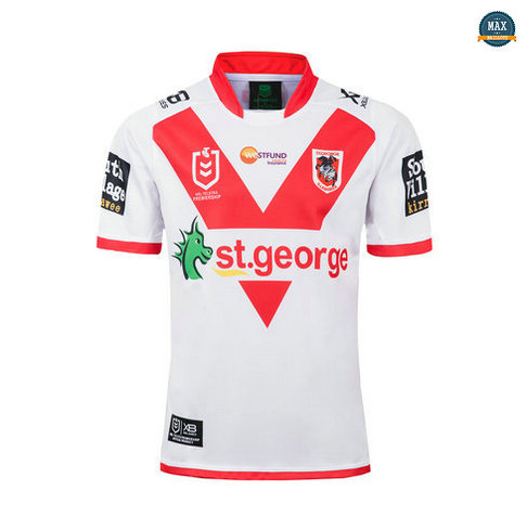 Max Maillot Rugby St George Illawarra Dragons Domicile 2019/20